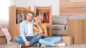 Couple getting ready to move house