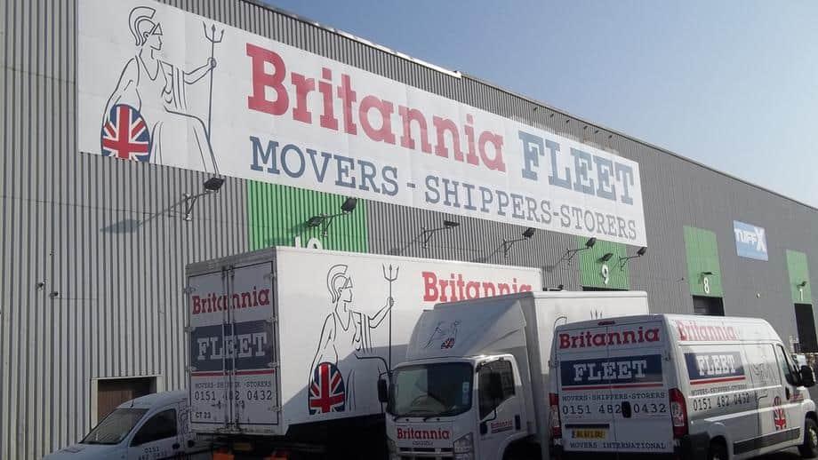 Outside Britannia Fleet HQ