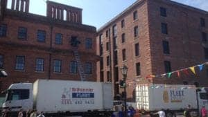 Moving office at Albert Dock
