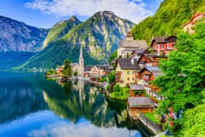 Austrian houses on the lake